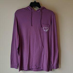 🐘 Ivory Ella Purple Long Sleeve Hooded Tee